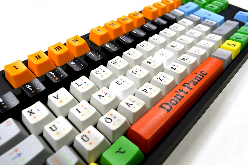 Custom printed keyboards by digital led uv flatbed printer